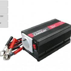 Invertor de tensiune auto Carpoint 24V-230V 300W-900W 50Hz cu protectii la supra-sarcina baterie descarcata supravoltaj scurt-circuit Kft Auto