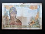 Bancnota veche, Colonii Franta: Indochina 5 Piastres
