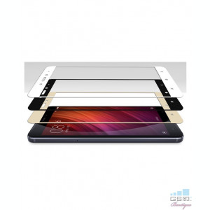 Geam Soc Protector Full LCD 4D Huawei P10 Lite Alb
