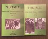 PROCESELE LUI CORNELIU ZELEA CODREANU - 2 VOLUME - 1923-1934 SI 1938