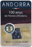 ANDORRA 2017 - 2018- 3 x 2 euro comemorativI / coincard / BU, Europa