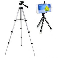 Pachet Trepied foto telescopic Weifeng WT-3110A universal 35-102 cm, husa...