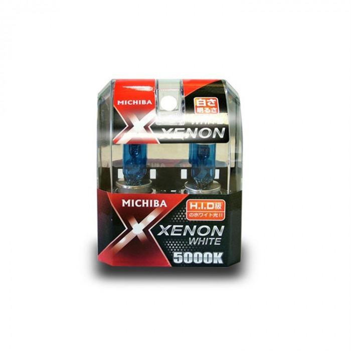 Becuri auto cu halogen pentru far Michiba Xenon White H7 12V 60/55W 5000K Kft Auto