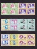 ROMANIA 1985 LP 1148 MARI DESCOPERITORI SI CUTEZATORI BLOCURI DE 4 MNH, Nestampilat