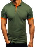 Tricou polo bărbați verde Bolf 171222