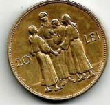 ROMANIA 20 LEI 1930 HORA FARA LITERA  STARE  EXCELENTA