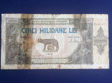 Bancnote România - 5000000 lei 1947 - seria A.0950372 (starea care se vede)