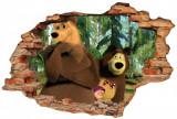 Cumpara ieftin Sticker Wall Crack Masha and the Bear 3 - 120 x 80 cm