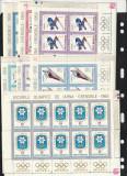 Olimpiada Grenoble ,nr lista 657 b,Romania., Animatii, Nestampilat