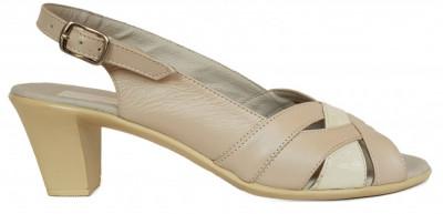 Sandale dama cu toc Ninna Art 229 bej foto
