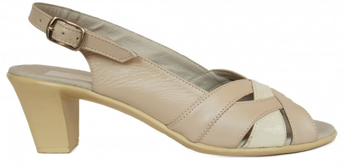 Sandale dama cu toc Ninna Art 229 bej