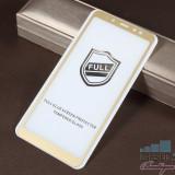 Geam Protectie Display Samsung Galaxy A8 Plus 2018 Acoperire Completa 2,5D Auriu