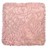 Fata de perna, model blanita cu flori, 40×40 cm, roz