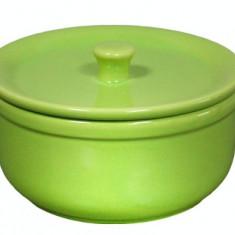 Oala ceramica 14cm 600ml culoare verde Seramic