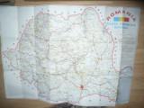 Harta Turistica Rutiera a Romaniei , dim. = 93x67cm
