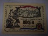 Eticheta bere Romania - BUCUR tip AZUGA - 1978  !