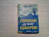 POPASURI LA MARI EUROPENI - Eugen Relgis - 1944, 412 p.; coperta originala, Alta editura