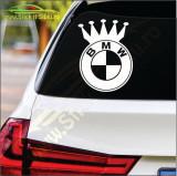 King Bmw-Stickere Auto-Cod:ESV-186 -Dim  20 cm. x 15 cm.
