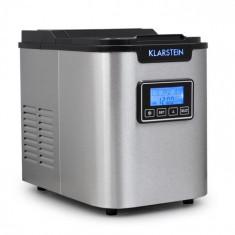 Klarstein Klarstein ICE6 Icemeister, aparat pentru prepararea de cuburi de gheață, 12 kg/24 h., oțel inoxidabil, negru