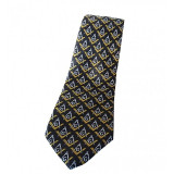 Cravata cu simboluri masonice galbene