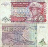 1992 ( 31 VII ) , 1,000,000 zaïres ( P-44a ) - Zair