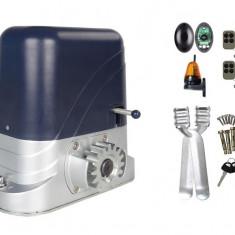 Kit Automatizare Poarta Culisanta 800kg cu Telecomanda, Fotocelule Lampa