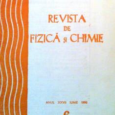 Revista de fizica si chimie. Anul XXVII iunie 1990, Nr. 6