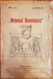 N. Iorga - Neamul Romanesc , an. I nr 1, 25 oct 1908