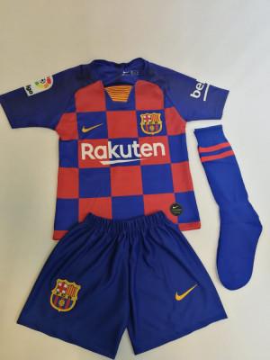 Echipament fotbal copii Barcelona Messi foto