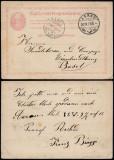 Switzerland 1873 Old postcard postal stationery Aarau to Basel DB.112