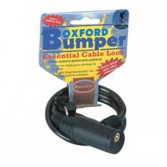 Cablu cu lacat Bumper 600mmx6mm, Fumuriu