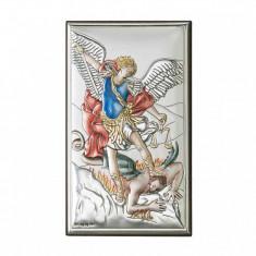 Icoana Argint Arhanghelul Mihail 12x20 cm Color Cod Produs 2751