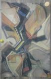 Abstract// tehnica mixta pe carton, nesemnata, Peisaje, Acuarela, Avangardism