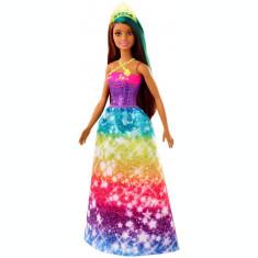 Papusa Barbie Printesa Dreamtopia cu coronita galbena