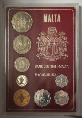 Set de monetarie Malta Proof 1972 - Superb! foto