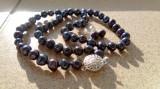 set perle negre cercei si colier
