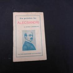 CU PRIVIRE LA ALECSANDRI - BARBU LAZAREANU