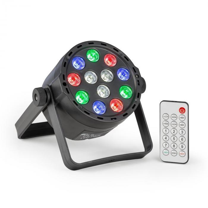 Beamz PLS25 Par, LED reflector, 12 x 1 W RGBW LED, baterie, telecomandă