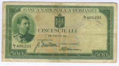 Romania 500 lei 1934  Fine P36a foto