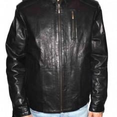 Haina barbati, din piele naturala, marca Kurban, R1-01-95, negru