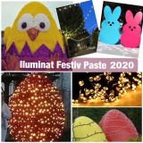Iluminat festiv Paste 2020,decoratiuni luminoase led primarii,parcuri