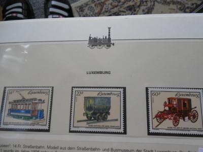 LUXEMBURG-TRANSPORT-NESTAMPILATE foto