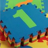 Covor puzzle din spuma 9 piese cu cifre colorate de la 1 la 9 31 cm x 31 cm