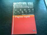 PAGINA RUPTA - TANIA LOVINESCU
