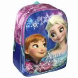 Ghiozdan scoala Disney Frozen Elsa si Anna, 31x42x13 cm