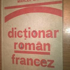 Marcel Saras - Dictionar roman-francez (pentru uzul elevilor), (1977; ed a II-a)