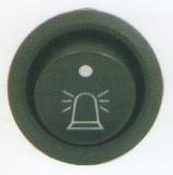 Comutator rotund Pornit/Oprit 12V cu dubla iluminare - Indic, Haztec