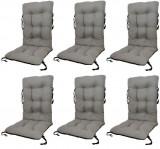 Set Perne pentru scaun de gradina sau sezlong, 48x48x75cm, culoare gri, 6 buc/set
