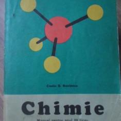 CHIMIE MANUAL PENTRU ANUL III LICEU - COSTIN D. NENITESCU