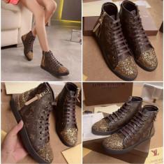 Sneakers Dama Louis Vuitton - Piele naturala - Pret promotional !!!
